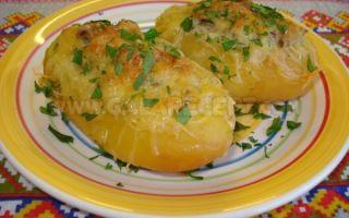 Картофель, фаршированный грибами: фото и рецепты запеченной картошки в духовке для начинающих хозяек