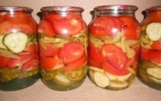 Салат из помидоров и огурцов пальчики оближешь на зиму — рецепт с пошаговыми фото