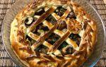 Пироги с грибами шампиньонами: фото и рецепты выпечки из слоеного и дрожжевого теста