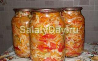 Салат из огурцов с укропом на зиму — пошаговый рецепт с фото