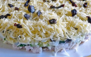 Салаты с грибами шампиньонами, выложенные слоями: фото, рецепты приготовления слоеных блюд с пошаговым описанием