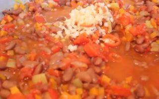 Салат из кабачков с фасолью на зиму — рецепт с пошаговыми фото