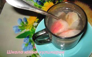 Компот из персиков и яблок на зиму — пошаговый рецепт с фото