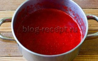 Клубника протертая блендером с сахаром на зиму — самые простые рецепты