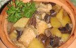 Как готовить сушеные грибы с мясом в горшочках и мультиварке: рецепты с фото