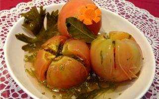 Фаршированные зеленые помидоры на зиму без стерилизации — рецепт с пошаговыми фото