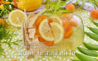 Компот из абрикосов, апельсина и лимона на зиму — простой пошаговый рецепт