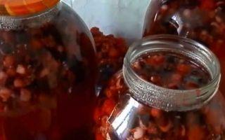 Компот из ирги и вишни на зиму — рецепт с пошаговыми фото