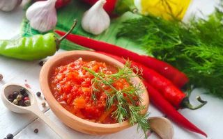 Аджика сырая без уксуса на зиму — рецепт с пошаговыми фото