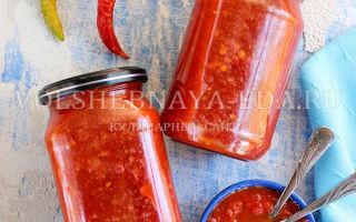 Аджика без уксуса на зиму — рецепт приготовления с пошаговыми фото