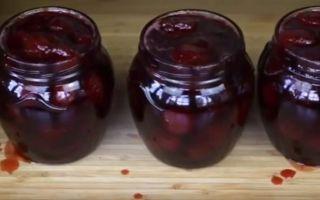 Варенье из вишни пятиминутка с косточками густое на зиму — рецепт с пошаговыми фото