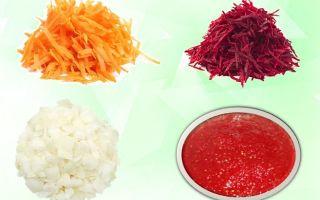 Заправка для борща из свеклы на зиму — 5 очень вкусных рецептов с фото пошагово
