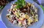 Салаты с маринованными грибами: фото, рецепты простых и очень вкусных салатов с маринованными грибами