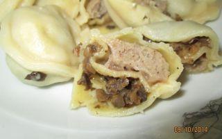 Рецепты начинки с картошкой и грибами для приготовления пирогов, пельменей, вареников и блинов