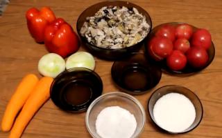 Солянка с грибами, капустой и помидорами на зиму — рецепт с пошаговыми фото