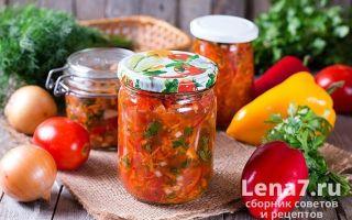 Салат из помидоров, болгарского перца и лука на зиму — рецепт приготовления с пошаговыми фото