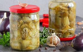 Баклажаны как грибочки на зиму — простой пошаговый рецепт