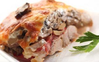 Мясо «по-купечески» с грибами: фото и пошаговые рецепты