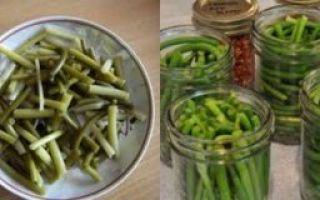 Маринованные стрелки чеснока на зиму — рецепт приготовления с пошаговыми фото