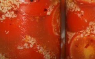 Помидоры с чесноком на зиму через мясорубку — рецепт с фото пошагово