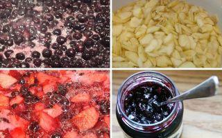 Варенье  из ранеток и черноплодки на зиму — простой пошаговый рецепт