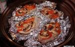 Мясо с грибами в духовке в фольге: как приготовить вкусное блюдо