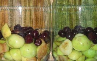 Компот из вишни и яблок на зиму на 3-литровую банку — простой рецепт от автора