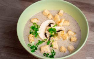 Как приготовить крем-суп с шампиньонами: фото и рецепты грибных первых блюд