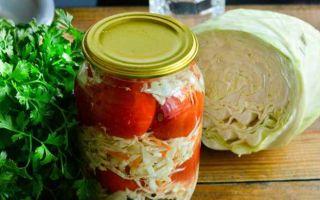 Помидоры с капустой засолка на зиму — рецепт с пошаговыми фото
