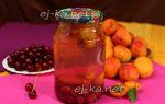 Компот из вишни и абрикосов на зиму — рецепт с пошаговыми фото