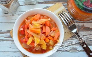 Лечо из зеленых помидоров на зиму — пошаговый рецепт с фото