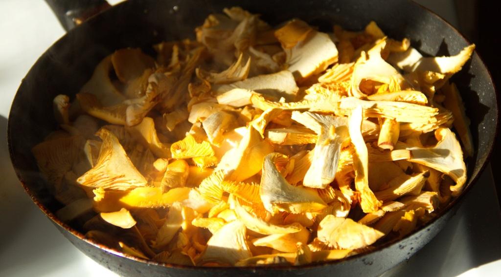 Блюда из сухих лисичек