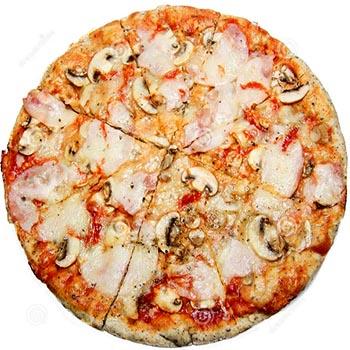 Пицца с опятами и сыром