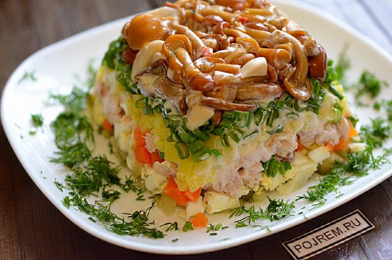 рецепт с картинками салат с грибами