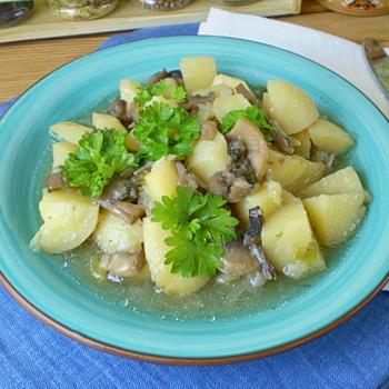 картошка с грибами в скороварке