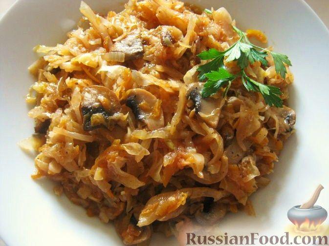 мясо с грибами и сметаной рецепт