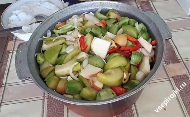Салат из зеленых помидор на зиму пальчики оближешь - 5 очень вкусных рецептов с фото пошагово