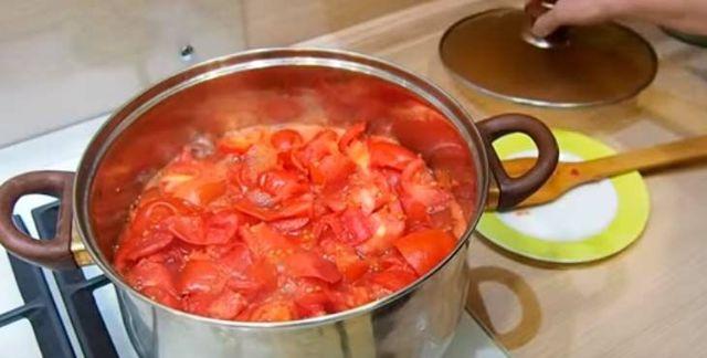 Томатная паста блендером на зиму - простой пошаговый рецепт