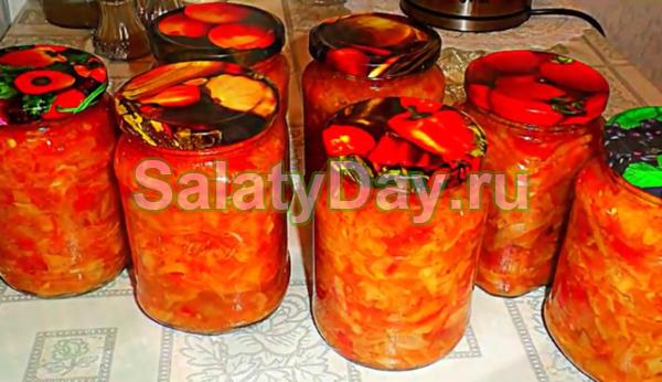 Салат из перца и помидоров на зиму - 5 рецептов с фото пошагово
