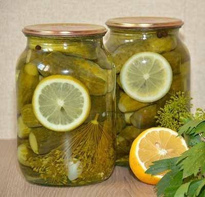 Огурцы без уксуса с лимоном на зиму - рецепт приготовления с пошаговыми фото