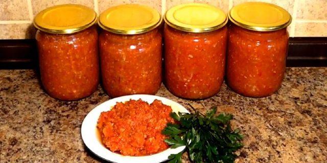 Аджика на зиму - 5 лучших рецептов с фото пошагово