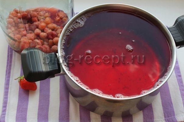 Земляничный компот без стерилизации на 3-х литровую банку на зиму - рецепт с пошаговыми фото