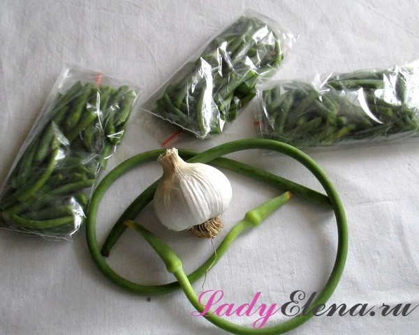 Стрелки чеснока без стерилизации на зиму - пошаговый рецепт с фото