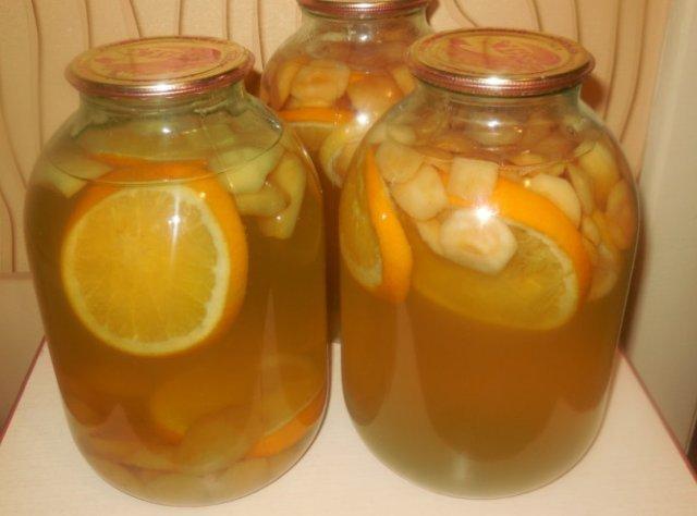 Яблочный компот на 1 литровую банку на зиму - рецепт с пошаговыми фото