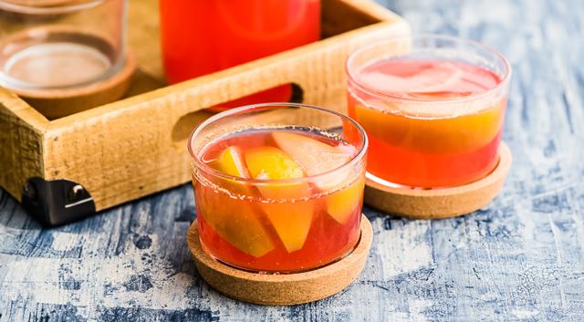 Компот из персиков и яблок на зиму - пошаговый рецепт с фото