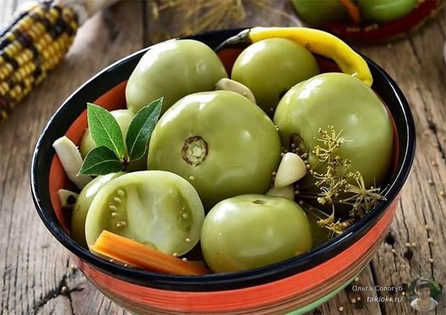Фаршированные зеленые помидоры на зиму без стерилизации - рецепт с пошаговыми фото