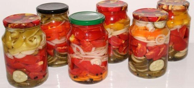 Помидоры и огурцы в желатине на зиму - вкусный рецепт с пошаговыми фото