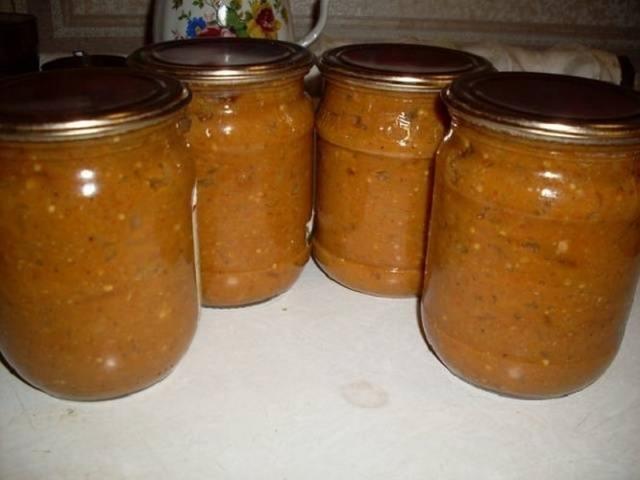 Икра из баклажанов без стерилизации с уксусом на зиму - рецепт с пошаговыми фото