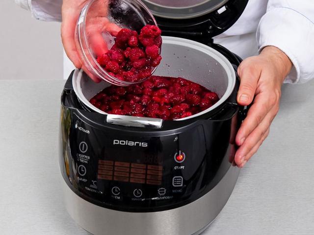 Желе из малины в мультиварке на зиму - рецепт приготовления с пошаговыми фото