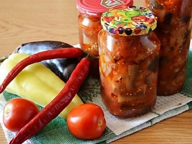 Лечо из баклажан и сладкого перца на зиму - простой рецепт приготовления с пошаговыми фото
